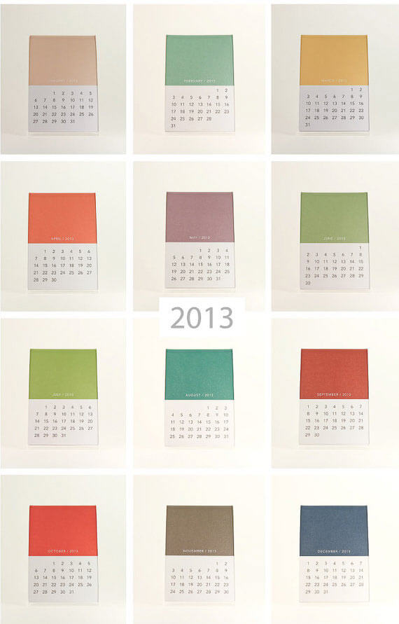 Colorful Calendars #8