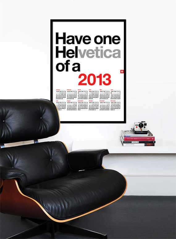 Fun With Helvetica - Print Calendar #1